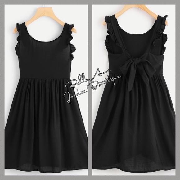 Dresses & Skirts - Light weight A Line Sleeveless Ruffle Trim Dress